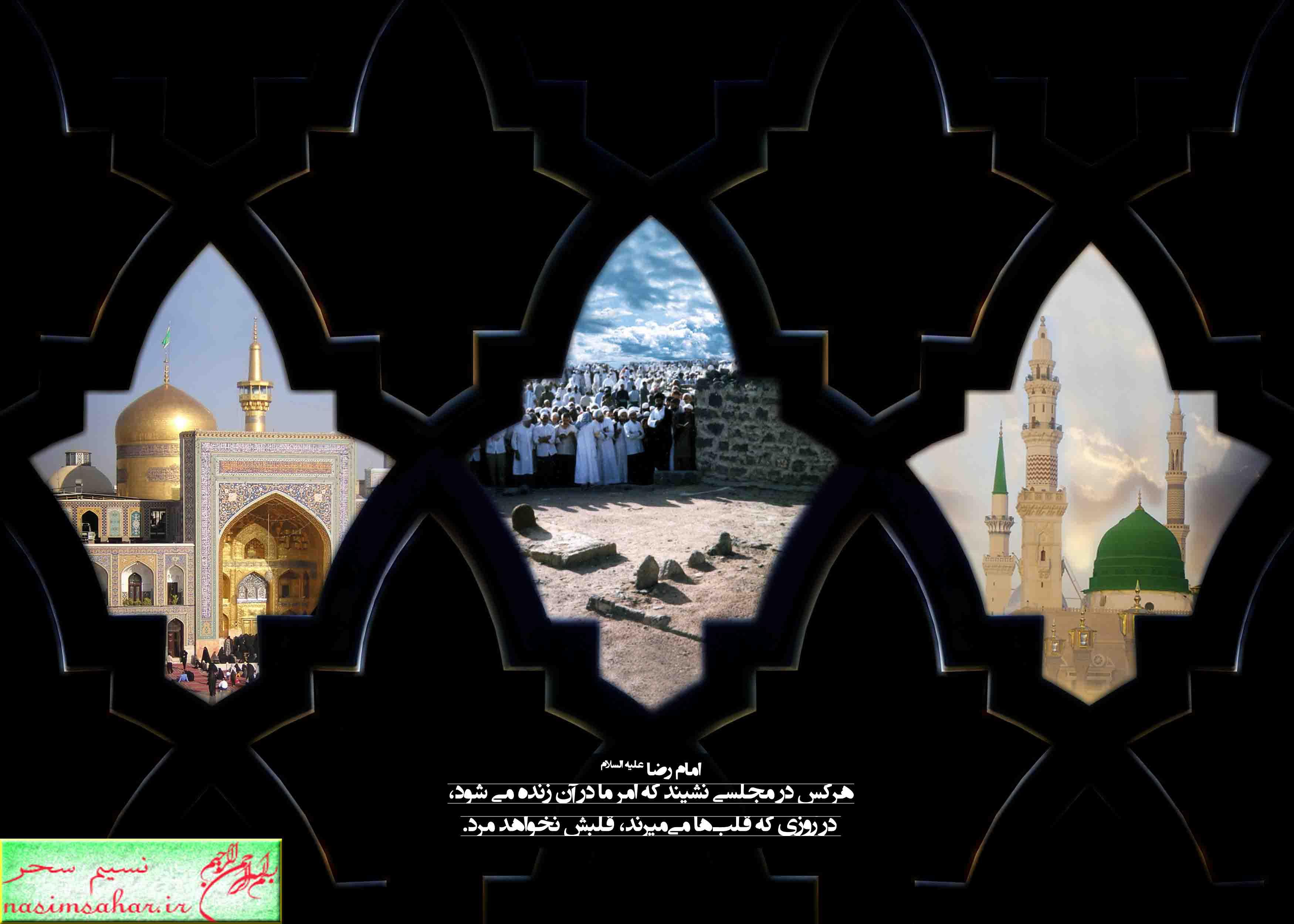 امام حسن ع امام رضا ع و رسول اکرم صلوات الله علیه