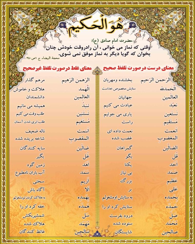 تجوید در قرائت نماز